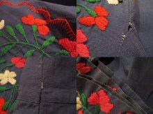 他の写真3: ブルー×レッド×オレンジサンアントニーノ刺繍長袖ロングドレス
