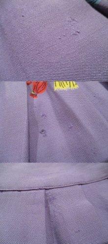 他の写真2: 50〜60年代ライトパープル×イエロー×レッドお人形柄フレアスカート