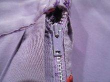 他の写真1: 50〜60年代ライトパープル×イエロー×レッドお人形柄フレアスカート