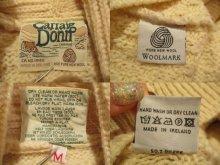 他の写真1: アイルランド製生成り×ブラウンアラン編みポケット付きショールカラー長袖フィッシャーマンニットカーディガン