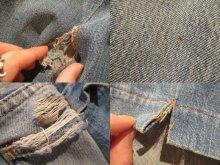 """他の写真3: """"LEVIS684""""ライトブルー×ブルー×レッドチェック&ボーダー柄パッチワークデザインポケット付きヴィンテージリメイクロングデニムスカート"""
