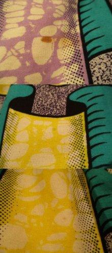 他の写真1: イエロー×グルーン×パープルリボン柄アフリカンバティックティアードスカート