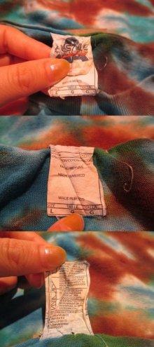 他の写真1: ブルー×ブラウン×イエロータイダイ染半袖Tシャツ