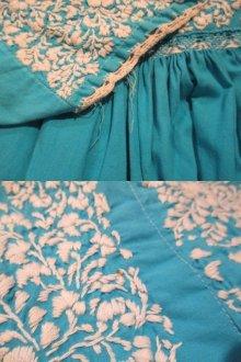 他の写真1: サックス×ホワイトサンアントニーノ刺繍メキシカン半袖ドレス