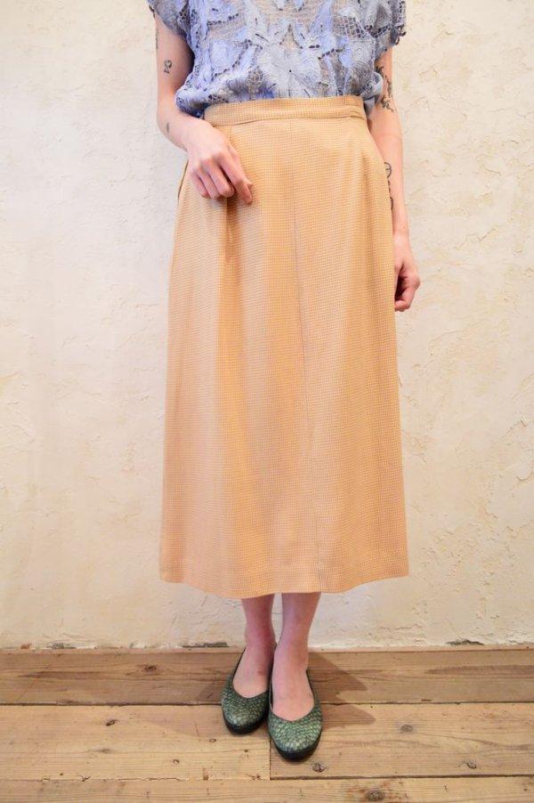 画像3: 50〜60年代イエロー×ライトパープルハウンドトゥース柄スカート