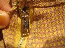 他の写真2: 50〜60年代イエロー×ライトパープルハウンドトゥース柄スカート