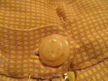 他の写真1: 50〜60年代イエロー×ライトパープルハウンドトゥース柄スカート