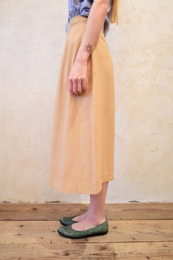 画像4: 50〜60年代イエロー×ライトパープルハウンドトゥース柄スカート