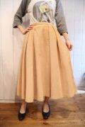 50〜60年代ベージュコーデュロイポケット付きフレアスカート