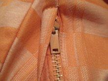 他の写真1: 50〜60年代ペールオレンジチェックポケット付きサーキュラースカートノースリーブドレス