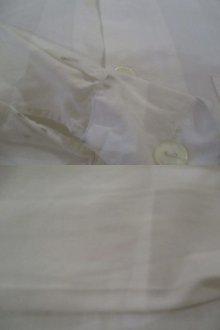 他の写真3: ホワイト無地ハイネックポケット付き長袖ユーロワークロングシャツ
