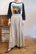 USA製グレー×ホワイトストライプポケット付きスカート