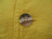他の写真1: USA製イエロー無地ポケット付きクルーネック長袖コットンシャツ