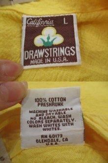 他の写真2: USA製イエロー無地ポケット付きクルーネック長袖コットンシャツ
