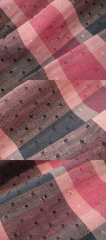 他の写真2: 50〜60年代ピンク×ブラック×グレーチェック&ドット柄フレアスカート