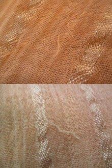 他の写真2: オレンジ×カーキ×ホワイトタイダイ染めVネック長袖ギリシャドレス